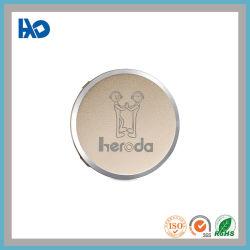Частные Custom серебристого оттенка круглой формы алюминиевые пластины этикетки для гарнитуры