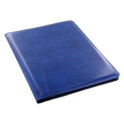 Couverture rigide bleu Portefeuille en cuir dossier de police