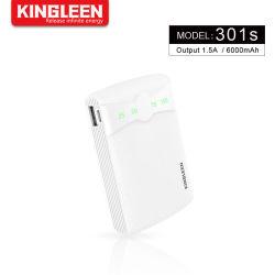 6000mAh carga rápida bateria externa Tamanho pequeno banco de energia compatível com o telefone celular
