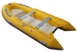 12,8 voet 3.9m Opblaasbare boten met glasvezel stevige Hull pneumatische boten vissen Dinghies Kustwise Ferry Boat Rubber Bijboot Narwhal Rubberboten Duiken Boot