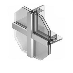 Profils extrudés en aluminium de haute qualité visible mur rideau en verre de châssis