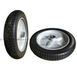 Alta qualità 4.00-8 raggi di gomma solidi della stella della rotella dell'unità di elaborazione della rotella della carriola