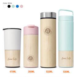 Tazze di caffè di bambù di bambù all'ingrosso della boccetta di vuoto dell'acciaio inossidabile della chiavetta della Cina FL5024
