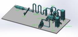 Moinho de martelo de pó de madeira Pulverizador Moedor para indústrias de produção de placas de papel WPC