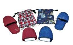 Set de 2, de patin de coton Travel Pack, pliable, sac cadeau emballé, pantoufle portable