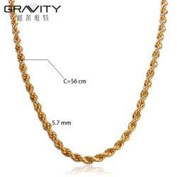 بالجملة طويلا [لتست] بسيطة رجال ورك جنجل [أمريكن] جديدة تصاميم عنق مجوهرات نحاس أصفر [24ك] [14ك] [18ك] نوع ذهب يصفح رجال عقد كبّل