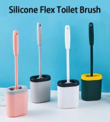 工場は屈曲のホールダーが付いている柔らかいシリコーンの浴室の洗面所のブラシセットをカスタマイズする