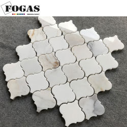 Arabeske-Marmorwand-Fliese-Laterne Calacatta Goldstein-Mosaik Backsplash
