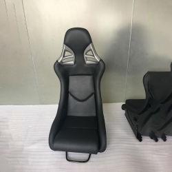 Kabel-Sitzschwarzes Belüftung-lederner Kohlenstoff-Faser-Schutzträger-Auto-Antrieb, der Wannen-Sitz läuft
