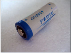 Cr18505 El tamaño de una batería de litio para alimentación de la memoria