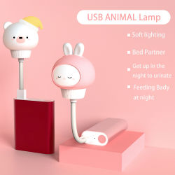 Les enfants de lumière de nuit capteur tactile Portable Multi-Color lampe veilleuse de commande à distance USB colorés des feux de la modification de lampes de silicone