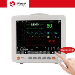 12s Temp ECG Resp PNI SpO2 Pr Patient Monitor dispositivo utilizado para diagnóstico de monitoramento da cirurgia no Hospital.