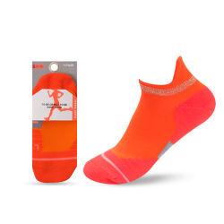 Clow naranja en el tobillo de corte bajo Hombres Mujeres Malla transpirable de compresión de los calcetines de senderismo deportivo Deportes ejecuta calcetines personalizados