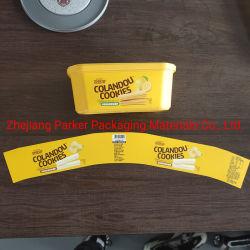 Plastic Etiket in het Etiket van de Vorm voor de Kop van het Roomijs en Vormen van de Injectie van het Etiket van de Kop van de Pudding het Plastic Plastic