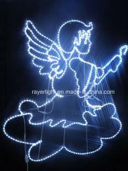 Vakantie van de Decoratie van het Ornament van Kerstmis van de Fee van de LEIDENE de 2D Kabel van de Engel Lichte