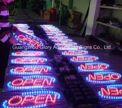 Geöffnetes LED Zeichen des im Freien und Innenacryl-