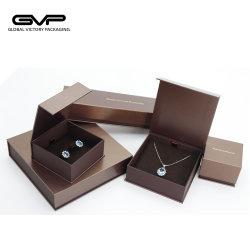 Nouveau design haut de gamme Handmake pur Bijoux boîtes d'emballage ensemble avec le logo de l'impression