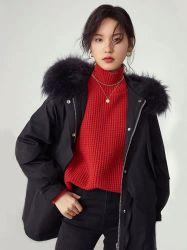 2021 Fashion femmes de neuf de l'hiver plus chaud court Outwear élégant classiques de fausse fourrure noire la jeune fille Vêtements de loisirs