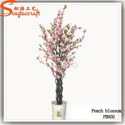 Plástico de alta calidad producto flores de seda de la planta Artificial árbol en flor