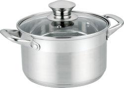 Горячий продавать и хорошее качество посудой Посуда из нержавеющей стали Посуда из нержавеющей стали горшочке со стеклянной крышкой