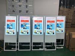 表示板ポスター、LCD人間の特徴をもつデジタルのポスターを広告する43インチ携帯用デジタル