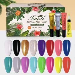 O kit de pregos Imtiti Nails Salon Professional UV Gel Nails 10 Conjunto de gel Soak Off com cores populares