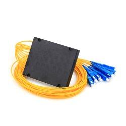 中国製FTTH LAN CATV Pon Sc APC Upcのための工場供給1X8の光ファイバディバイダーのABSボックスPLCのディバイダー
