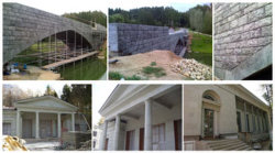 Fissure pont naturel Mur, flambé l'adaptation, Paver, Homed revêtement mural & colonne