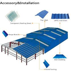 Resistencia UV de onda de hueco de PVC, peso de la luz de la hoja de techado