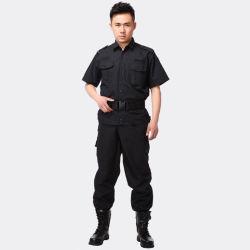 De naar maat gemaakte Eenvormige Veiligheid van de Wacht van de Polyester & Katoenen Zwarte