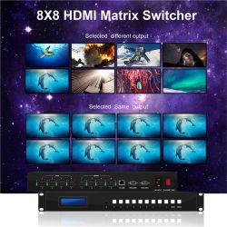 scambista dell'audio e video segnale del video scambista della tabella del video della parete di 8X8 HDMI della tabella sistema degli scambisti
