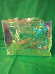 Sacchetto olografico impermeabile della spiaggia del PVC di modo, borsa della gelatina per la ragazza, sacchetto di acquisto all'ingrosso del Tote del PVC di abitudine