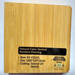 Natuurlijke kleuren verticale effen bamboe vloeren