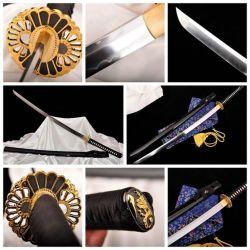 De met de hand gemaakte Japanse Slag Klaar #1511 van het Blad van het Staal van Katana van het Zwaard van Samoeraien T10 Scherpe