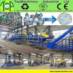 Une productivité élevée de ligne de recyclage de bouteilles PET pour le recyclage de bouteilles d'eau Cola avec l'étiquette les organes de battage