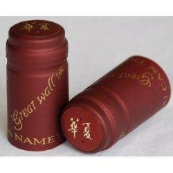 La gaine thermorétractable en PVC Capsule, étiquette de métal, bouchon de vin en PVC