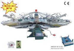 Yh-104/8自動コンベヤー4カラーTシャツスクリーンプリンター