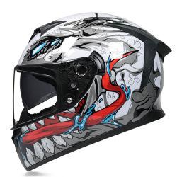 2021新しい点の公認の二重バイザーの太字のオートバイのヘルメット