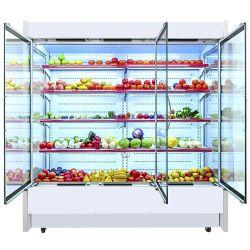 Коммерческие мерчандайзинга охлажденных дисплей морозильной камере супермаркет Multideck открыть охладитель шкафа электроавтоматики