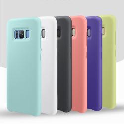 De hete Mobiele Telefoon die van de Verkoop het Originele Vloeibare Geval van de Telefoon van de Cel van het Silicone voor de Melkweg van Samsung S8 huisvest