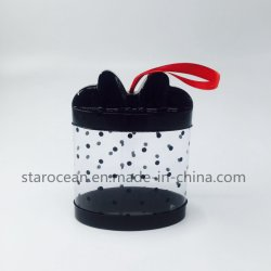선물 상자 PVC 리본을%s 가진 플라스틱 실린더 상자