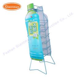 Portatif pliable permanent de plancher de gros fil métallique bouteille d'eau Présentoir pour flacons