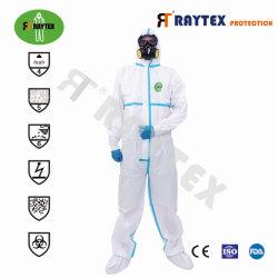 PPE van de Kleding van de Bescherming van het Lichaam van het Overtrek van de Veiligheid van de douane Unisex- Beschikbaar Medisch niet Geweven Werkend Volledig Kostuum in Voorraad