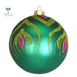 Diseño popular bola de cristal azul de la Navidad Adornos colgantes
