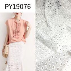 Py19076 Geïmiteerden Zijde zoals de Stof van de Polyester van het Borduurwerk voor Kleding