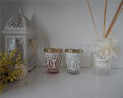 Commerce de gros bougie parfumée cuvette en verre bougie dans bocal en verre