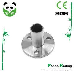 Tubo de Aço Inoxidável de placa de base para o corrimão de vidro balaustrada