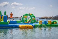 多彩な跳ね上がりの家の高品質のEnvironental水おもちゃの販売のための浮遊トランポリンの膨脹可能な遊園地