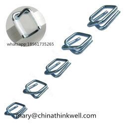 O fio de aço Fivela para cinta de poliéster, usados para embalagem