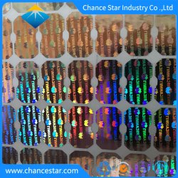 Custom Anti Contrafacção Holograma Impressão autocolante Laser